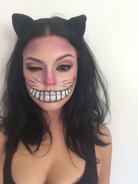 cheshire cat-halloween-make up