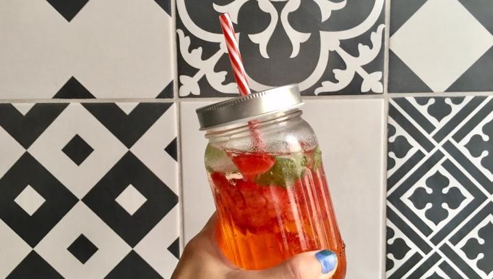 La Minute Healthy : ma limonade fraise –menthe